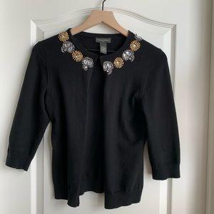 Banana Republic cardigan black sweater size Med